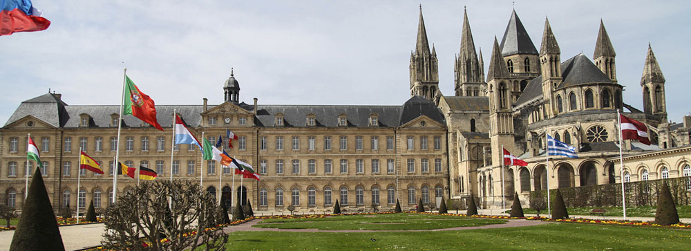 Caen. Normandy. Abbey exterior and gardens